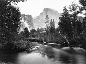 Yosemite National Park, Valley Floor and Half Dome Photograph - Yosemite, CA by Lantern Press