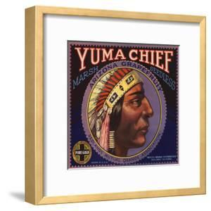 Yuma Chief Brand - Redlands, California - Citrus Crate Label by Lantern Press
