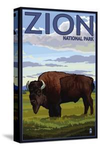 Zion National Park, UT - Bison by Lantern Press