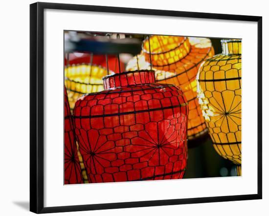 Lanterns at Sunday Market-Ray Laskowitz-Framed Photographic Print