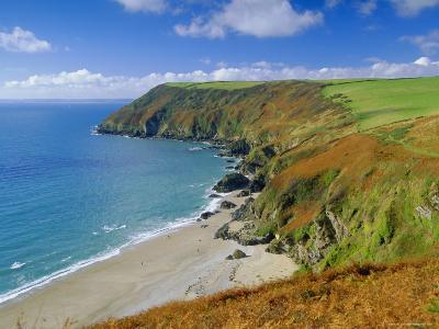 Lantic Bay, Near Fowey, Cornwall, England,UK-John Miller-Photographic Print