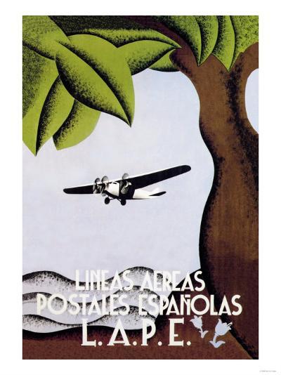 LAPE, Spanish Postal Airlines--Art Print
