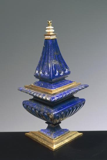 Lapis Lazuli and Gilded Silver Salt Cellar, 16th Century--Giclee Print