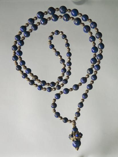 Lapis Lazuli Waist Necklace with Gold and Silver Elements-Mario Buccellati-Giclee Print