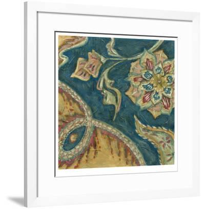 Lapis Paisley IV-Chariklia Zarris-Framed Limited Edition