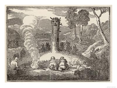 Laplanders Worshipping an Idol--Giclee Print