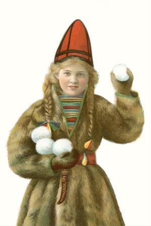 Lapp Girl with Snowballs