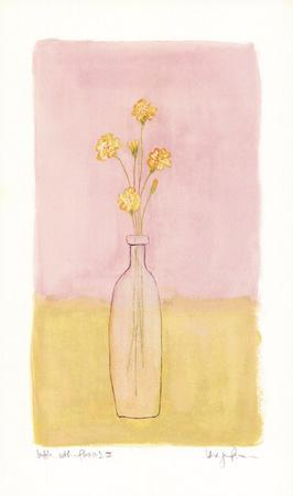 Bottle With Flowers lll