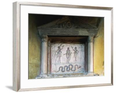 Lararium Niche with Pediment Supported by Half-Columns, House of the Vettii, Pompeii--Framed Photographic Print