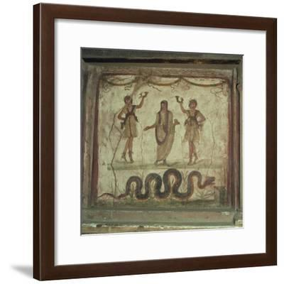 Lararium, Wall Paintings in the House of the Vettii in Pompeii, Italy-Rolf Richardson-Framed Photographic Print