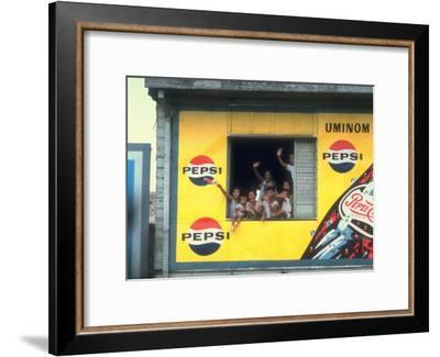 Large Billboard Painted on Side of Building Advertising Pepsi Cola, Manila, Philippines-Arthur Schatz-Framed Premium Photographic Print