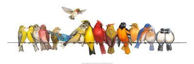 Large Bird Menagerie-Wendy Russell-Premium Giclee Print
