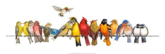 Large Bird Menagerie-Wendy Russell-Art Print