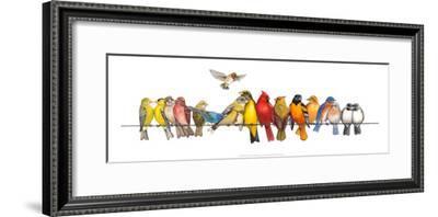 Large Bird Menagerie-Wendy Russell-Framed Art Print