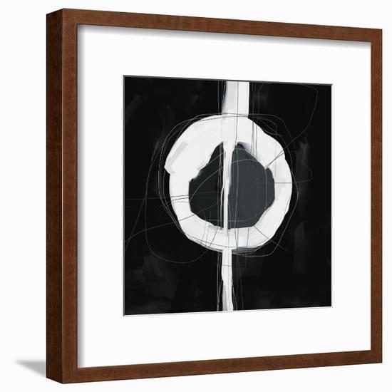 Large Black, White and Grey Abstract-Real Callahan-Framed Art Print