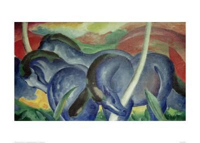 Large Blue Horses, 1911-Franz Marc-Giclee Print