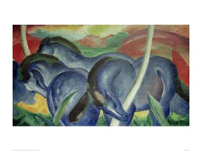 Large Blue Horses, 1911-Franz Marc-Giclee Print