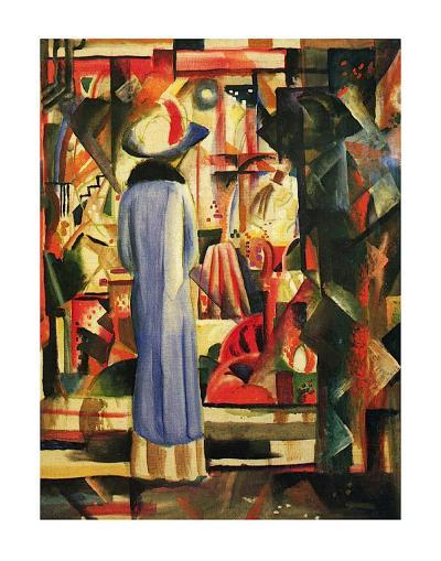 Large Bright Showcase-Auguste Macke-Art Print