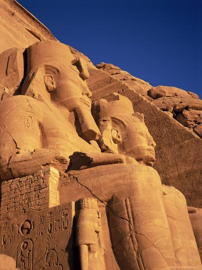 Large Carved Seated Statues of the Pharaoh, Temple of Rameses II, Nubia, Egypt-Sylvain Grandadam-Photographic Print