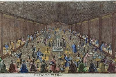 Large Dinner in Tbilisi, Tiflis, Food and Drink, Historical, Liszt Gourmet Archive--Giclee Print
