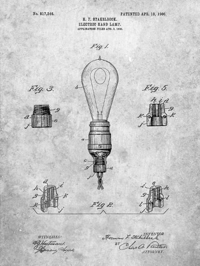 Large Filament Light Bulb Patent-Cole Borders-Art Print