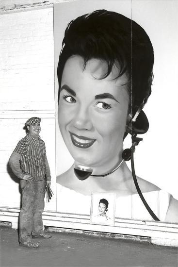 Large Format Portrait, Switchboard Operator--Art Print
