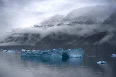 Large Icebergs in Scoresby Sound, Greenland-Raul Touzon-Photographic Print
