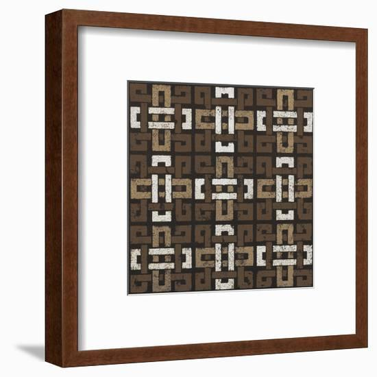 Large Knot 9 Square (Neutrals)-Susan Clickner-Framed Giclee Print