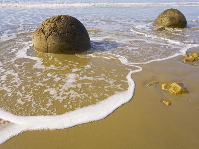Large Moeraki Boulders on Koekoche Beach-John Eastcott & Yva Momatiuk-Photographic Print