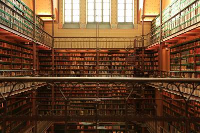 Large Old Dutch Library in the Rijksmuseum in Amsterdam-Zarya Maxim-Photographic Print