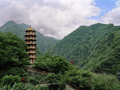 Large Pagoda Is Found in the Mountains of Tienhsiang Area of Taroko Gorge, Taiwan-xPacifica-Photographic Print