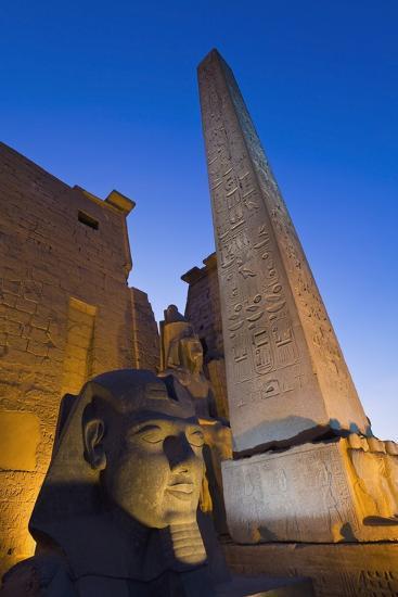 Large Pharaoh's Head Statue and Obelisk-Design Pics Inc-Photographic Print
