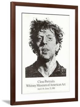 Large Phil Fingerprint, 1979-Chuck Close-Framed Collectable Print