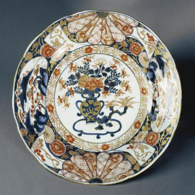 Large Plate Decorated with Floral Patterns--Giclee Print