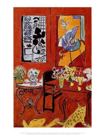 Large Red Interior, 1948-Henri Matisse-Art Print