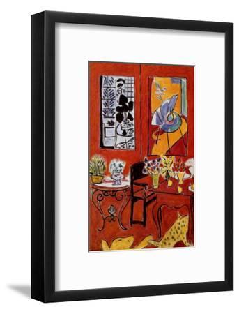 Large Red Interior, 1948-Henri Matisse-Framed Art Print