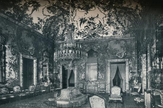 Large salon with porcelain ceiling, Royal Palace, Madrid, c1927-Unknown-Photographic Print