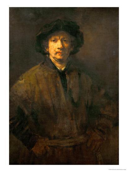 Large Self-Portrait, 1652-Rembrandt van Rijn-Giclee Print