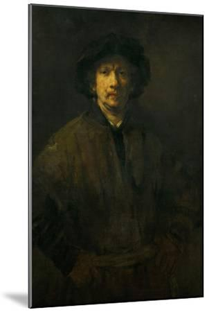 Large Self-Portrait, 1652-Rembrandt van Rijn-Mounted Giclee Print