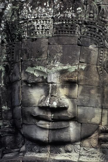 Large Stone Carving at the Bayon Ruins in Angkor Wat-Cristina Mittermeier-Photographic Print