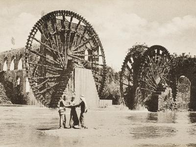Large Waterwheel at Antakya--Photographic Print