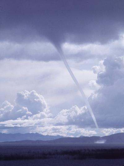 Large White Fluffy Clouds and Funnel Cloud During Tornado in Andean Highlands, Bolivia-Bill Ray-Photographic Print