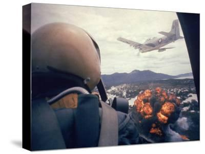 American Jets Dropping Napalm on Viet Cong Positions Early in the Vietnam Conflict