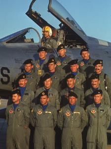 F-100 Pilots of 613th Tactical Fighter Squadron on Base by Larry Burrows