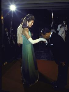 Jacqueline Kennedy Accepting a Kiss on the Hand from Cambodian Prince Norodom Sihanouk by Larry Burrows