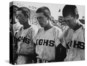 Japanese High School Baseball Players After Their Team Lost by Larry Burrows