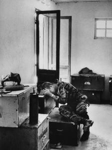 Lance Corporal James Farley in Tears at Death of Lt. James Magel After Confrontation with Viet Cong by Larry Burrows