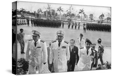 Maj. Gen. Thien Khiem (L), Gen. Van Minh Duong (2L), and Gen. Khanh Saigon, Vietnam, 1964