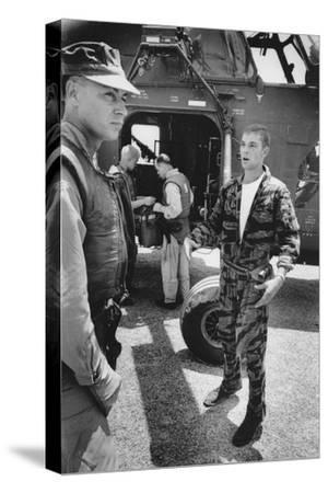 Marine Cpl. James C. Farley Andd Helicoptor Pilot Captain Vogel, Danang, Vietnam 1965