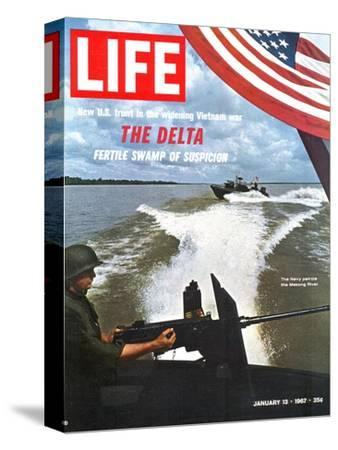 US Navy Presence on Mekong River During Vietnam War, January 13, 1967